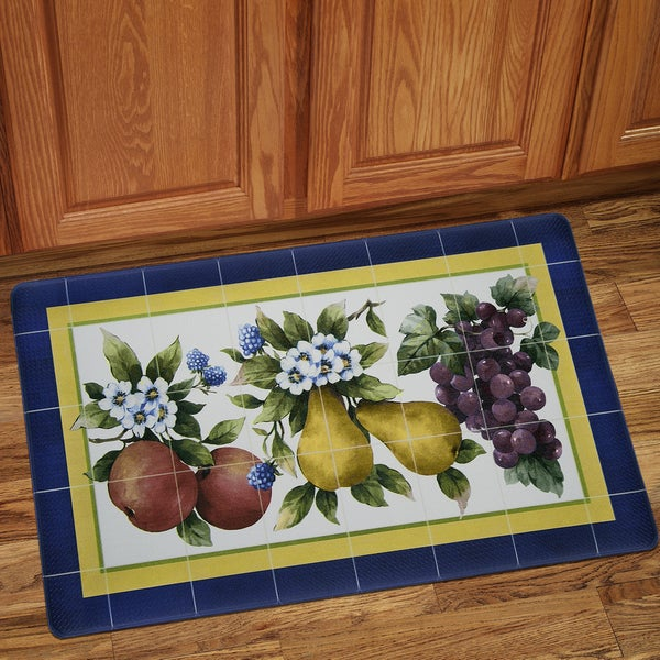 "Tiled Fruit Anti-Fatigue Floor Mat (18""x30"")"
