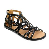 Olivia Miller 'Tatum' Multi Rhinestone Gladiator Sandals