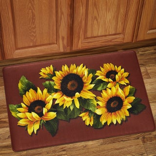 "Sunflower Print Anti-Fatigue Floor Mat (18""x30"")"