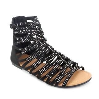 Olivia Miller 'Leela' Rhinestone Gladiator Sandals