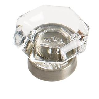 Traditional Classics Clear/ Satin Nickel 1-1/16-inch (27mm) Diameter Knob