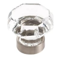 Traditional Classics Clear/ Satin Nickel 1-5/16-inch (33mm) Diameter Knob