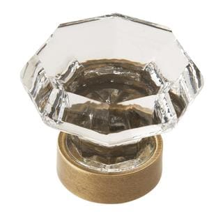 Traditional Classics Clear/ Gilded Bronze 1-5/16-inch (33mm) Diameter Knob