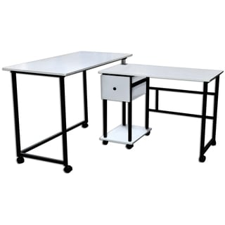 Sullivans Stowaway Craft And Hobby 2 Piece Sewing Machine Tables