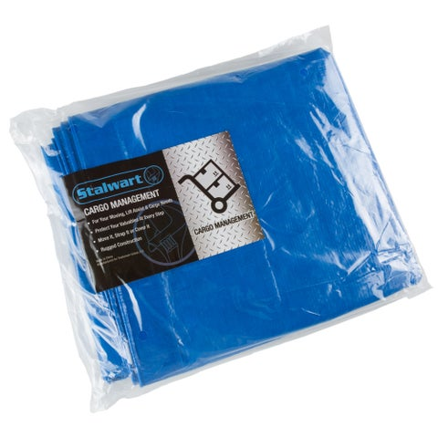 Outdoor Multi Use Tarp- Durable Tear Resistant Blue Multipurpose Reusable Tarp by Stalwart