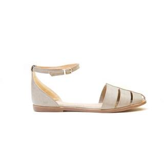 GC Shoes Women's Junie Grey Flat Sandal