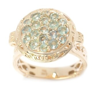 Michael Valitutti 14K Yellow Gold Multi Alexandrite Disc Ring