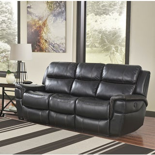 Abbsyon Langdon Black Power Reclining Sofa