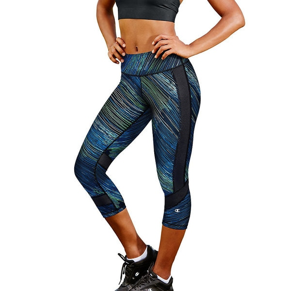 984f53c46398 Shop Champion Women s Absolute Color-block Capris - Free Shipping On Orders  Over  45 - Overstock.com - 14466220