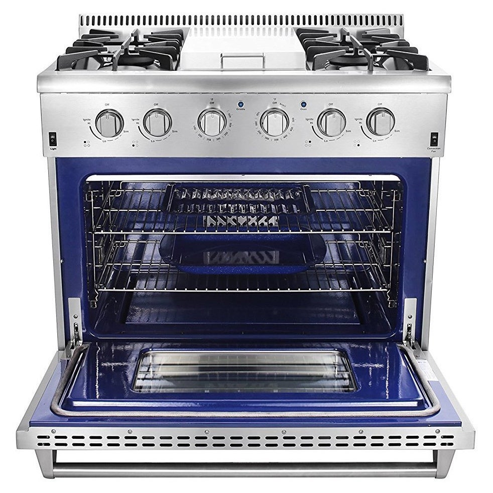 Thor Kitchen Professional Style 4 Burners and Griddle 36-...