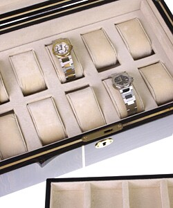 Rocketbox Wood 16-watch Collection Watch Box - Thumbnail 2