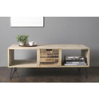East At Main's Omega Brown Mindi Wood Rectangular Coffee Table