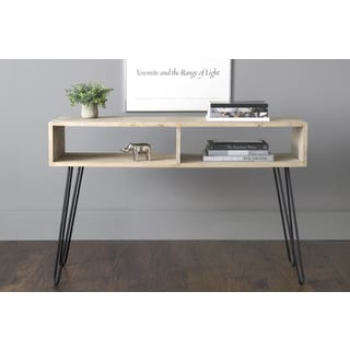 East At Main's Oxford Brown Mindi Wood Rectangular Console Table