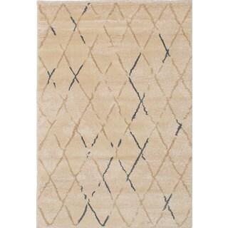 EcarpetGallery Soho Ivory-colored Polypropylene Shag Rug (3'10 x 5'7)