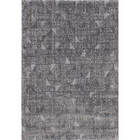 ecarpetgallery Soho Grey Shag Rug (3'10 x 5'7)