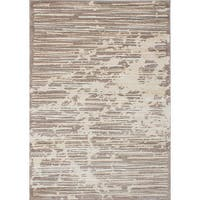 Ecarpetgallery Soho Brown and Ivory Shag Rug - 5'3 x 7'5