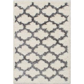 ecarpetgallery Soho Grey/ Ivory Shag (3'10 x 5'6)