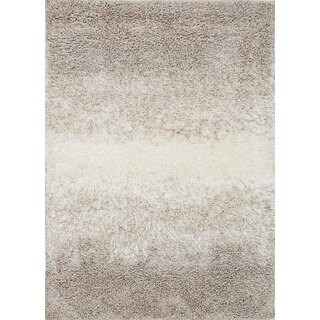 eCarpetGallery Salt and Pepper Brown/ Ivory Shag Rug (3'10 x 5'6)