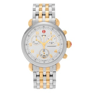 Michele Women's MWW03D000026 'CSX' Two-tone Stainless Steel Chronograph Link Watch