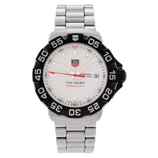 Tag Heuer Men's 'Formula 1' WAH1111.BA0850 Stainless Steel White Dial Link Bracelet Watch