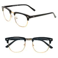 Pop Fashionwear Women's R209 Clubmaster Plastic Reading Glasses
