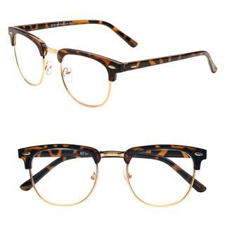 Pop Fashionwear Women's R209 Clubmaster Plastic Reading Glasses
