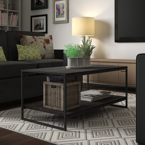 Shop Cubicle Modern Coffee Table Free Shipping Today Overstock