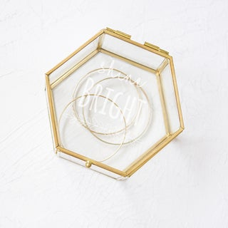 Shine Bright Gold and Glass Keepsake Box