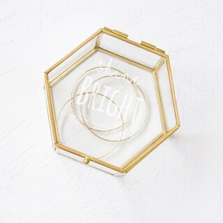 Shine Bright Gold and Glass Keepsake Box