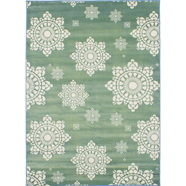 eCarpetGallery Chroma Green Rug
