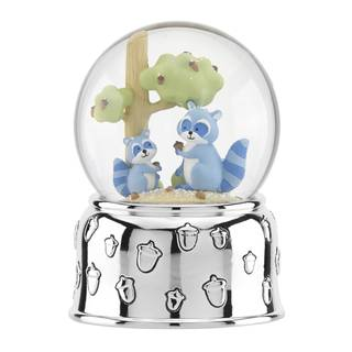 Reed & Barton Hazelnut Hollow Raccoon Musical Waterglobe