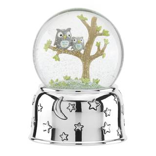 Reed & Barton Hazelnut Hollow Owl Musical Waterglobe