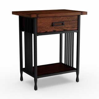 Ironcraft Side Table with Drawer