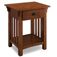 Wooden Contemporary Side Table with Drawer