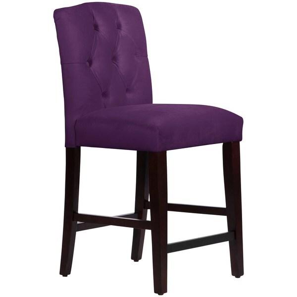 Skyline Furniture Custom Tufted Arched Counter Stool in Velvet