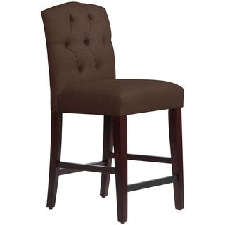 Skyline Furniture Custom Tufted Counter Stool in Twill