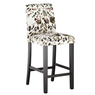 Skyline Furniture Custom Bar Stool with Buttons in Prints