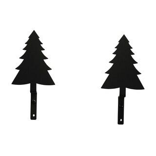 Black Wrought Iron Pine Tree Curtain Swags