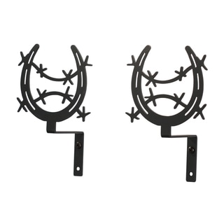 Wrought Iron Horseshoe Curtain Swags