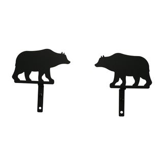 Bear Wrought Iron Curtain Swags