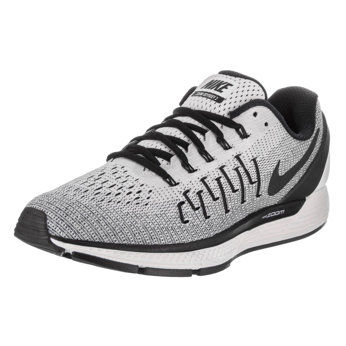 Nike Men's Air Zoom Odyssey 2 White Synthetic Leather Run...