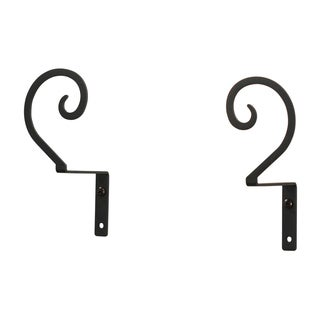 Wrought-iron Scroll Curtain Swags