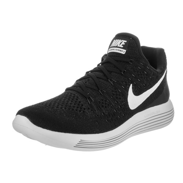 14ea725074c7 Shop Nike Men s Lunarepic Low Flyknit 2 Black Running Shoes - Free ...