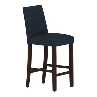Skyline Furniture Custom Bar Stool with Buttons in Micro-suede