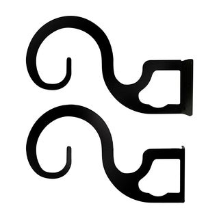 Wrought Iron Curtain Brackets For Two or Three 1-inch Rods