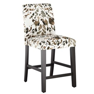 Skyline Furniture Custom Counter Stool with Buttons in Prints