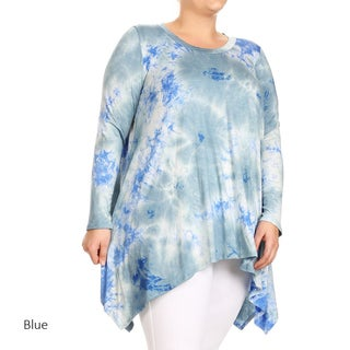 Women's Plus Size Tie Dye Tunic