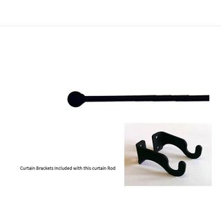 Black Wrought Iron Small Ball Curtain Rod