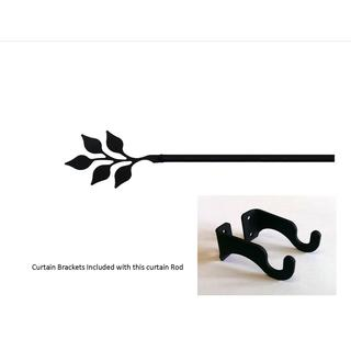 Wrought Iron Small Leaf Curtain Rod