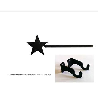 Black Wrought Iron Small Star Curtain Rod